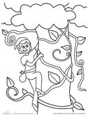 Jack and the Beanstalk Short Version Minibook  Worksheet