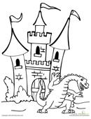 Knight and Dragon  Worksheet  Educationcom