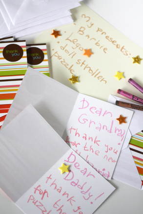 Second Grade Reading & Writing Activities: Holiday Thank You Cards