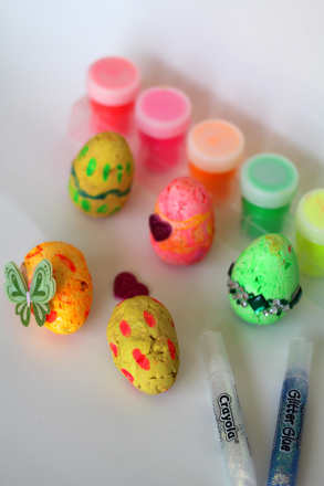 Kindergarten Holidays & Seasons Activities: Papier-Mâché Easter Eggs