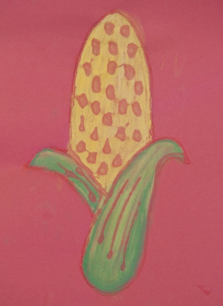 Fifth Grade Holidays & Seasons Activities: Indian Corn Pastel Picture