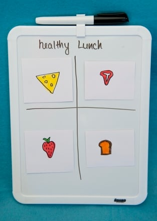 First Grade Seasons Activities: Make a Lunchbox Magnet Board