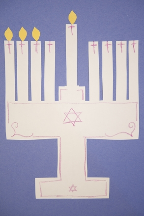 First Grade Holidays Activities: Make a Magnetic Menorah