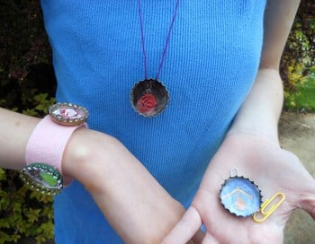 Fourth Grade Arts & Crafts Activities: Bottle Cap Jewelry