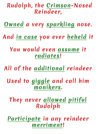 Third Grade Holidays & Seasons Activities: Rudolph the Red Nosed Mad Libs!