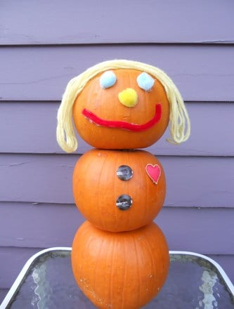 Third Grade Holidays & Seasons Activities: Pumpkin Snowman