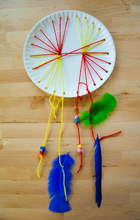 Woven Paper Plate Dream Catcher Activity Education Best Dream Catcher History For Kids