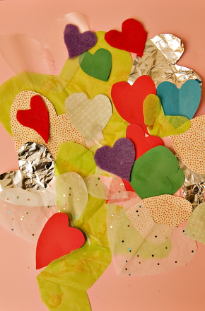 Kindergarten Holidays & Seasons Activities: Heart Collage