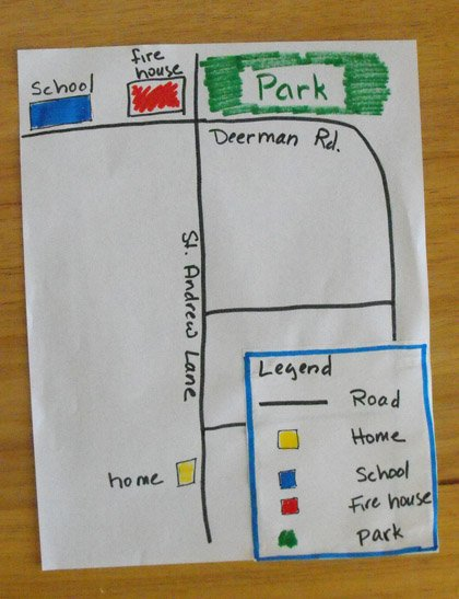 Third Grade Arts & Crafts Activities: Map Your Route