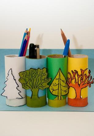 Fifth Grade Arts & Crafts Activities: DIY Pencil Holder