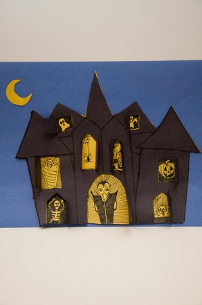 Third Grade Holidays & Seasons Activities: Make a Haunted House