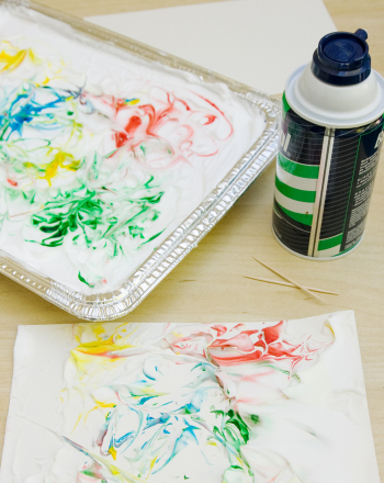 Second Grade Arts & crafts Activities: Marbled Paper