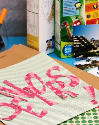 High School Arts & crafts Activities: Become a Cereal Scrapbooker