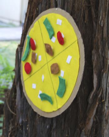 First Grade Offline Games Activities: Pizza Toss Game
