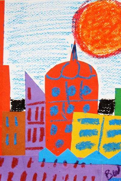 Fourth Grade Arts & Crafts Activities: City Collage