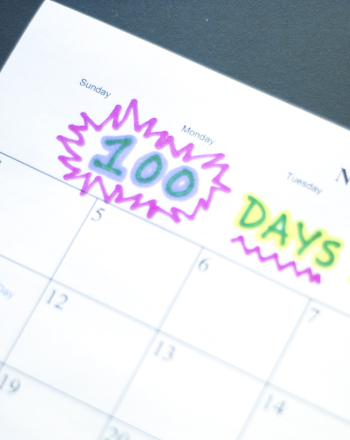Middle School Study Skills Activities: 100-Day Calendar