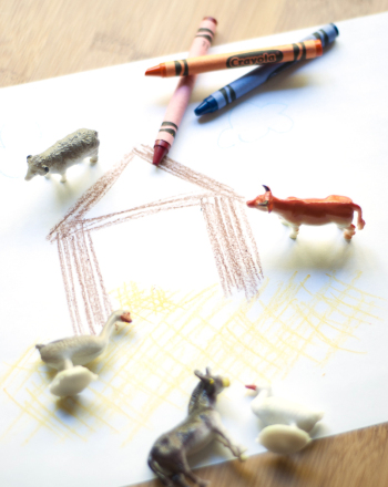 Kindergarten Arts & crafts Activities: Farm Animal Collage