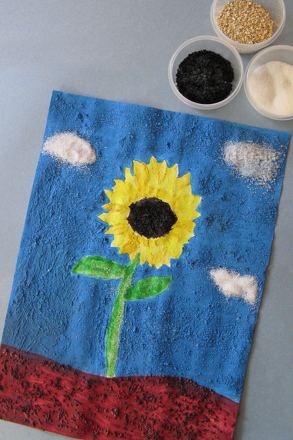 Second Grade Arts & Crafts Activities: Texture Painting