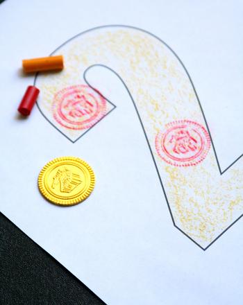 Preschool Math Activities: Make Number Rubbings