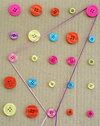 Preschool Math Activities: Button Board