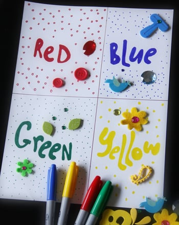 Preschool Math Activities: Create a Color Collage