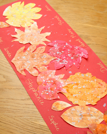 First Grade Holidays & Seasons Activities: Make a Thanksgiving Table Runner