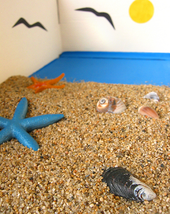 Preschool Arts & Crafts Activities: Make a Mini Beach-in-a-Box