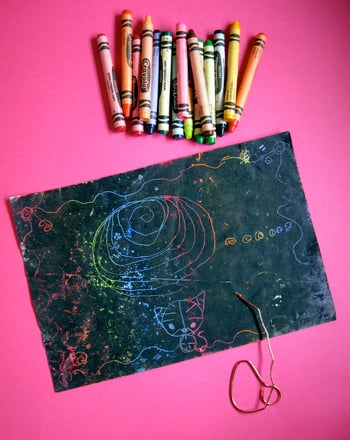 Preschool Reading & Writing Activities: Scratch Art