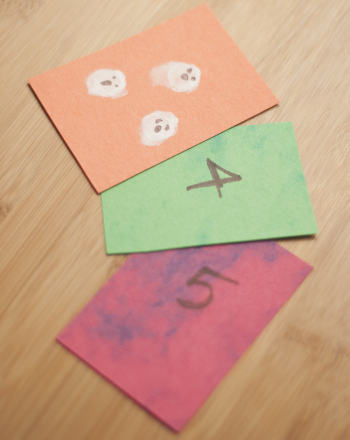 Preschool Math Activities: Spooky Flash Cards