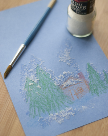 Preschool Arts & crafts Activities: Salt Painting