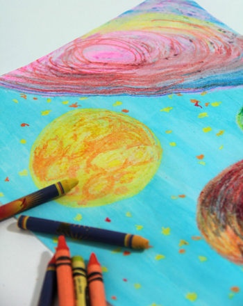First Grade Arts Crafts Activities Create A Wax Resist Nightscape