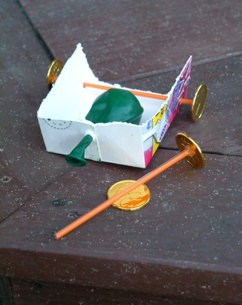 Second Grade Science Activities: Build a Balloon-Powered Car