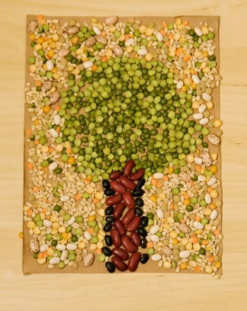 Kindergarten Arts & Crafts Activities: Create a Bean Mosaic!