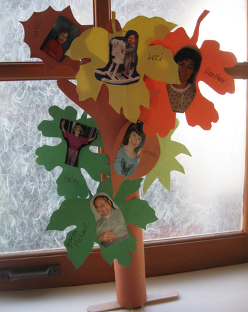 Make a family tree activity for Family arts and crafts