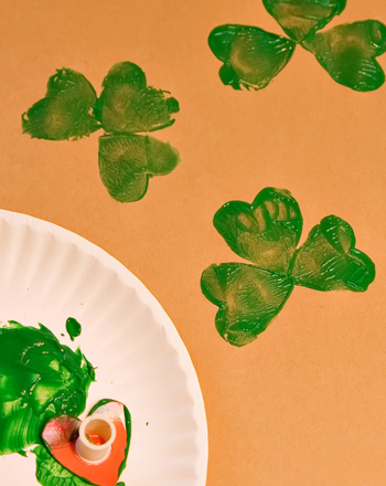 Preschool Holidays & Seasons Activities: Shamrock Stamps