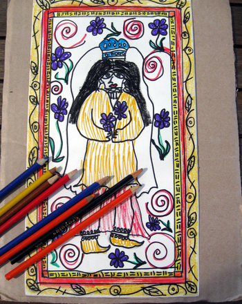 Fifth Grade Arts & crafts Activities: Madhubani Painting