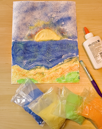Second Grade Holidays & Seasons Activities: Seascape Art