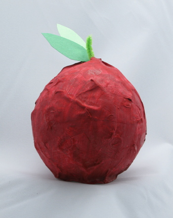Kindergarten Holidays & Seasons Activities: Make a Papier-Mache Apple for Teacher!
