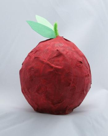 Kindergarten Seasons Activities: Make a Papier-Mache Apple for Teacher!