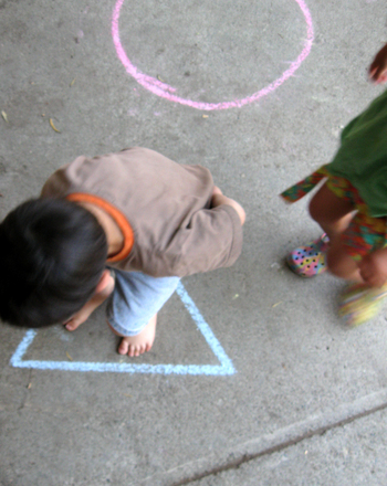 Preschool Math Activities: Play Twist 'N Turn!