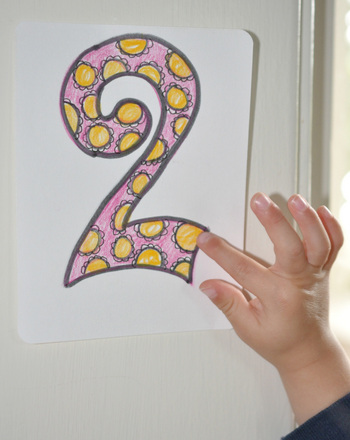 Preschool Math Activities: Number Hunt