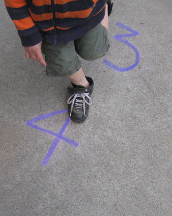 Preschool Math Activities: Run Around the Numbers