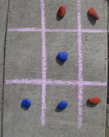Kindergarten Seasons Activities: Outdoor Tic Tac Toe