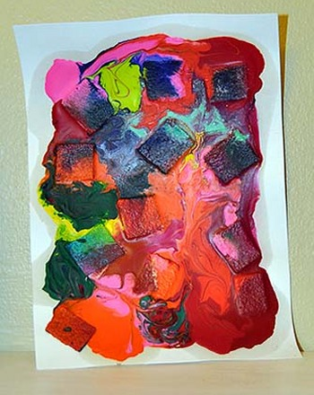 Preschool Seasons Activities: Melted Crayon Art