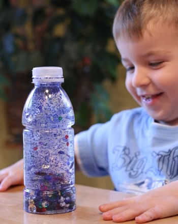 Preschool Reading & Writing Activities: Underwater I Spy Alphabet Bottle