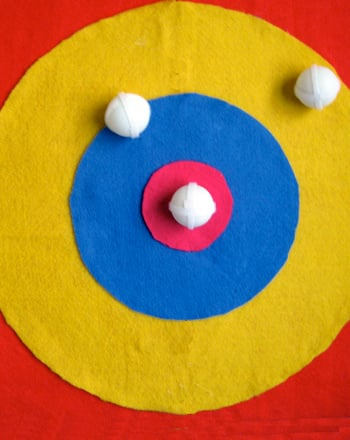 Second Grade Arts & crafts Activities: Velcro Dart Board