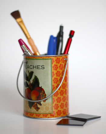 Middle School Arts & Crafts Activities: Make a Magnetic Spice Tin Pencil Holder