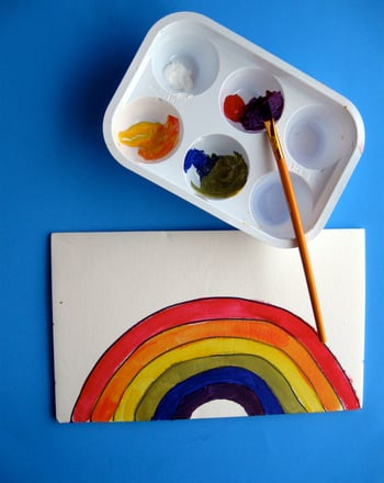 Preschool Arts & crafts Activities: Colors of the Rainbow