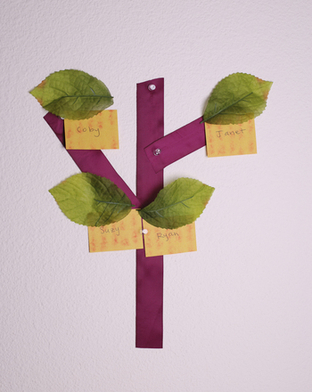 First Grade Reading & Writing Activities: DIY Decorating: Family Tree Nametags