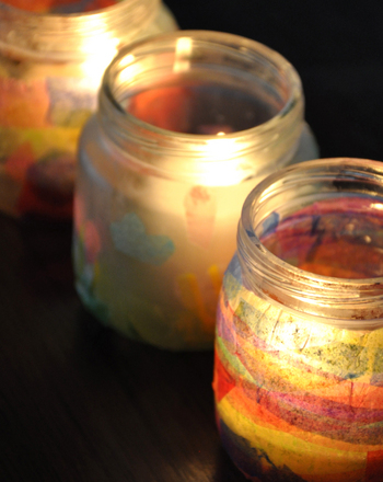 Second Grade Arts & crafts Activities: Baby Food Jar Candles